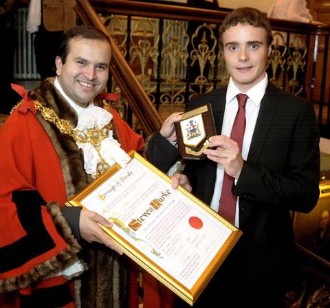 Hereford Times: Steven Burke becomes a freeman of Pendle