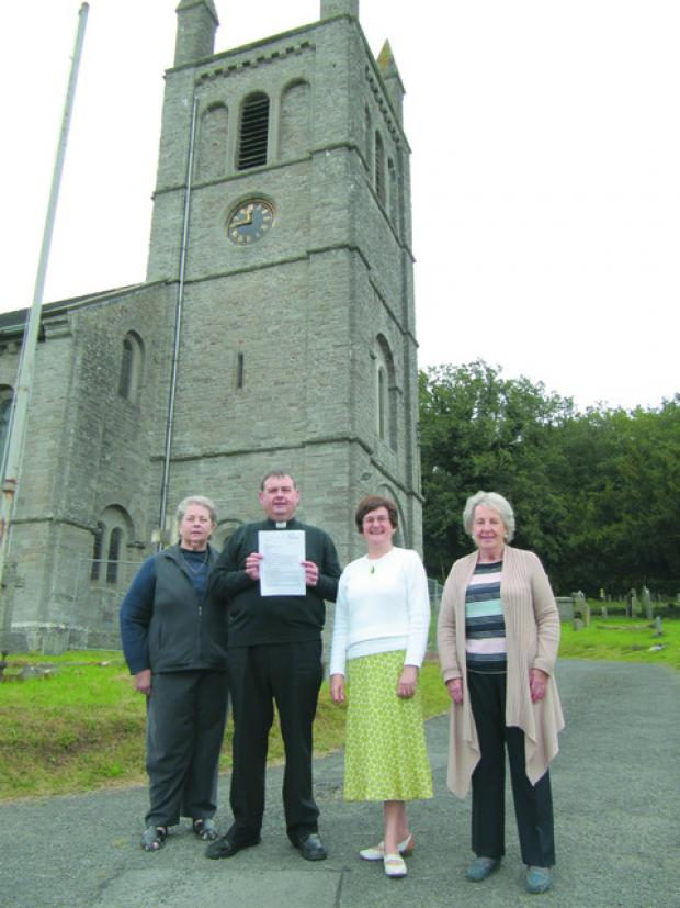 Maureen Hughes, Reverend David Thomas, Anne Collins and June Thomas.