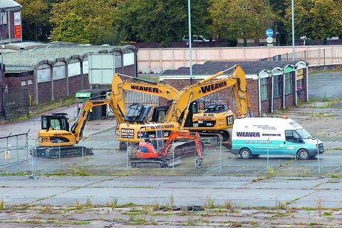 Demolition work on the old cattle market in Hereford should be finished by January