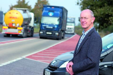 David Williams believes red road markings on the A49 could confuse rather than than help