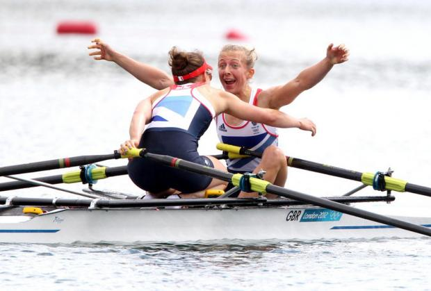 "WE'VE DONE IT: Kat Copeland, in a now-iconic image, screams ""we've won the Oly"
