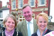 Pictured at the opening last Thursday are sub-postmistress Suzette Brunsdon, MP Bill Wiggin and the Mayor of Bromyard, Jan Pearce-Higgins.