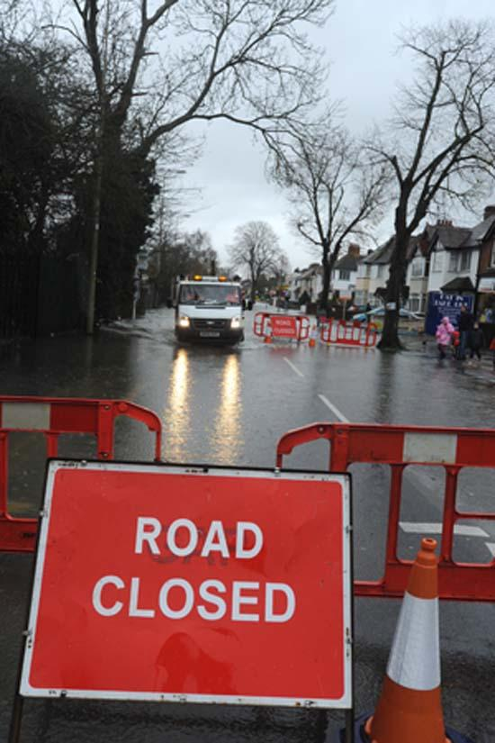 Rain on its way - road closures