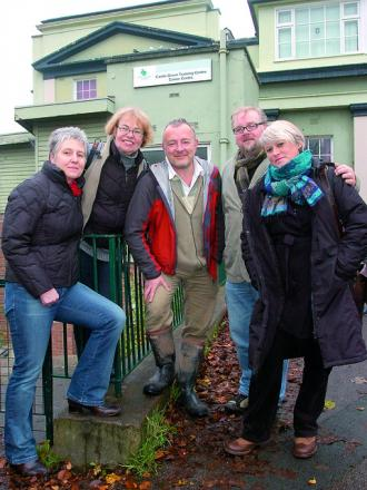 Friends of the Castle Green are taking over the former Castle Green Training Centre and Canoe Centre. Seen L to R are: Amanda Attfield, Lisa Richardson, Mark Hubbard, Ian Doody & Annabel Croft.