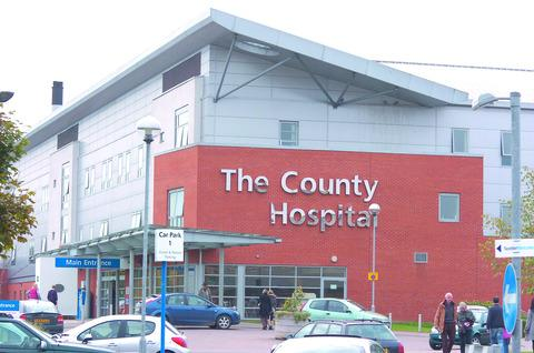 The County Hospital, Hereford, is subject to an enforcement notice after failing a fire safety test
