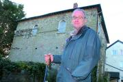 Bernard Ray, outside the Old Wesleyan Chapel, believes walkers can provide a boost to Kington. Picture by James Maggs.