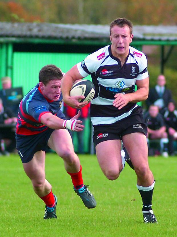 Hereford Times: Luctonians' John Morris (right) has continued his comeback from injury with a 12-point haul against Caldy in National Two North.