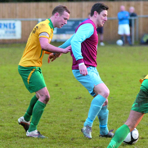 Westfields' Richard Kear made an early exit from the action at Heather St Johns as his side grabbed a 3-3