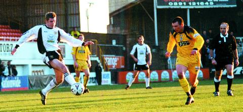 A young Ian Rodgerson during his first spell at Edgar Street.