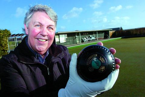 Wellington Bowls Club president David Wood on the club's green which is to be replaced.
