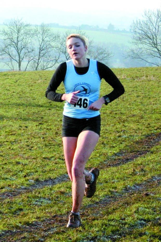 Suzanne Turvey won the senior women's title in the cross-country championships.