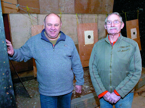 Looking for a new home for the Hereford Pistol and Rifle Club are secretary Bob Curry (left) and chairman George Knox.