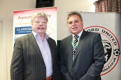 Simon Weston (left) with Councillor Nick Nenadich