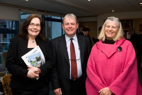 Laura Norris, of The Vivat Trust, David Campion, of Humphreys Symonds, and Gina Children, of TPP Sealing, at the launch of the St Michael's Hospice employee fundraiser of the year awards.Photo George Burgess.