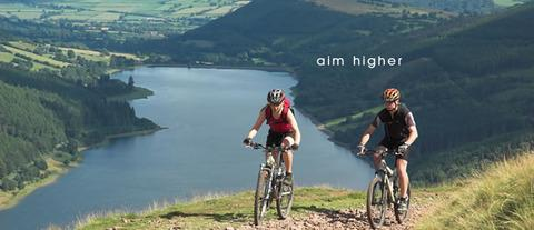 Cycling in the Brecon Beacons - the views are worth it