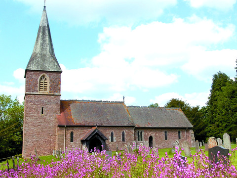 St Mary's Church at Humber is close to the spot where Alfred Watkins
