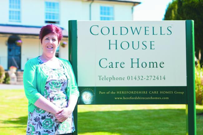 Sharon Childs, manager at Coldwells House in Holmer