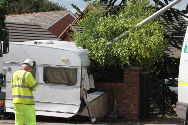 Luxury  Caravan Fixed Bed 4 Berth End Washroom  In Hereford Herefordshire