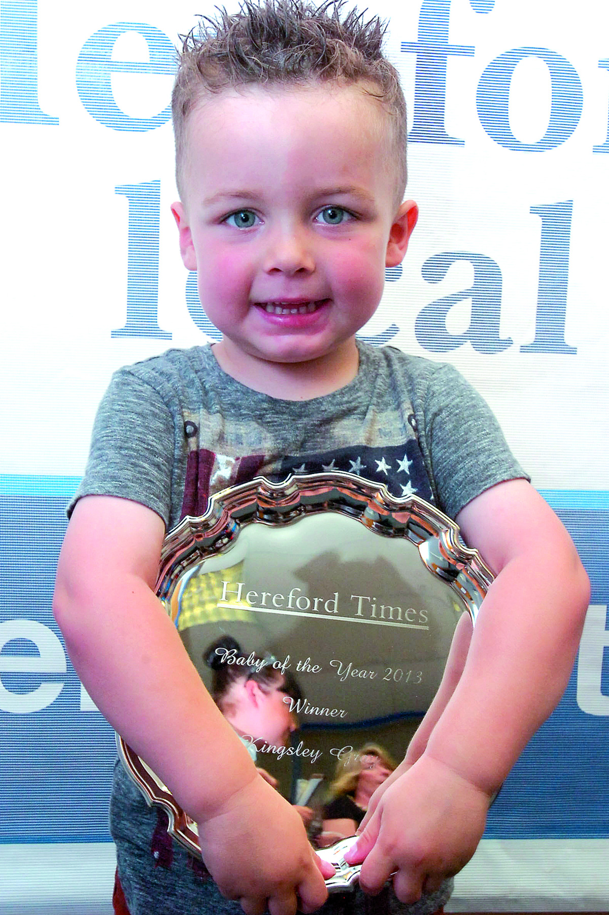 Oh baby - I'm a winner! Little Kingsley crowned baby of the year