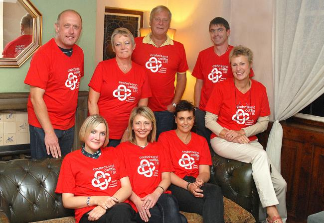 The newly formed Herefordshire Group of Crohn's and Colitis UK are (back, from left) David Griffiths, Bernadette Hughes, Ian Foster and Jason Budden with (front) Jessica Glover, Jin Pardoe, Debby Gatehouse and Jan Stevenson.