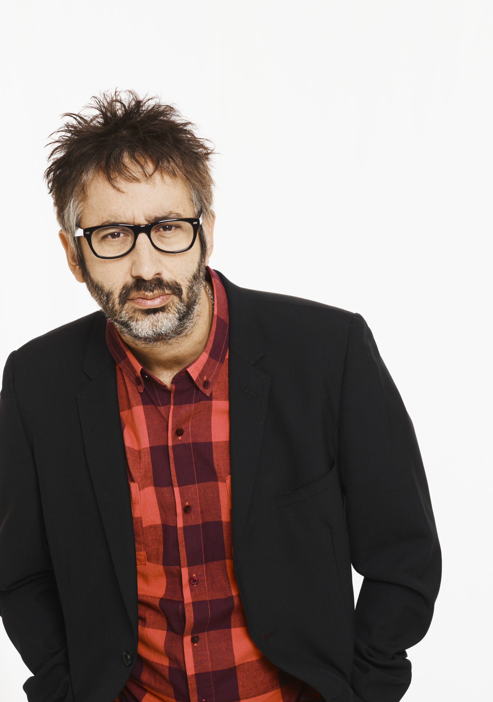 David Baddiel talked about fame at the Courtyard theatre in Hereford.