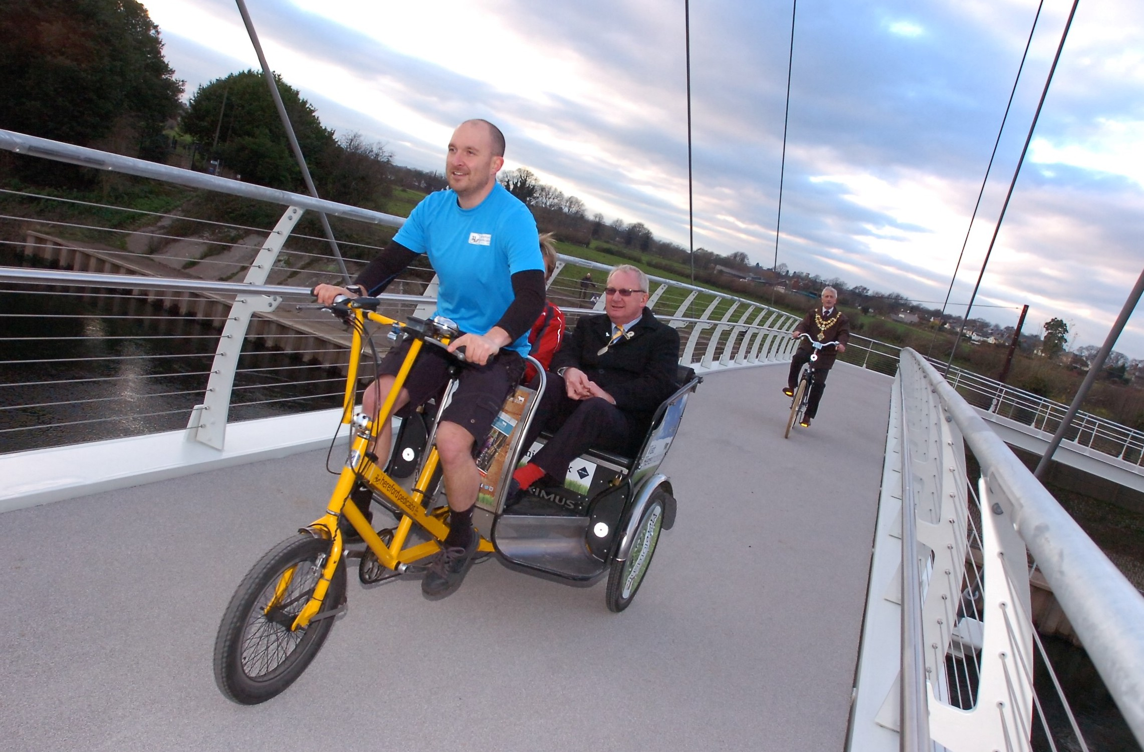Cyclists should be warned about Greenway Bridge, wind turbine worries, praise for our MP and city's development is flawed