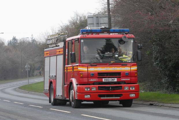 Fire crews were called to Ledbury on Monday night.