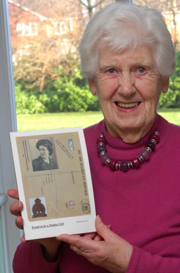 Hereford Times: Marion Jones, 94, has written a book about her experiences working for the Timber Corps during the Second World War.Picture: James Maggs.
