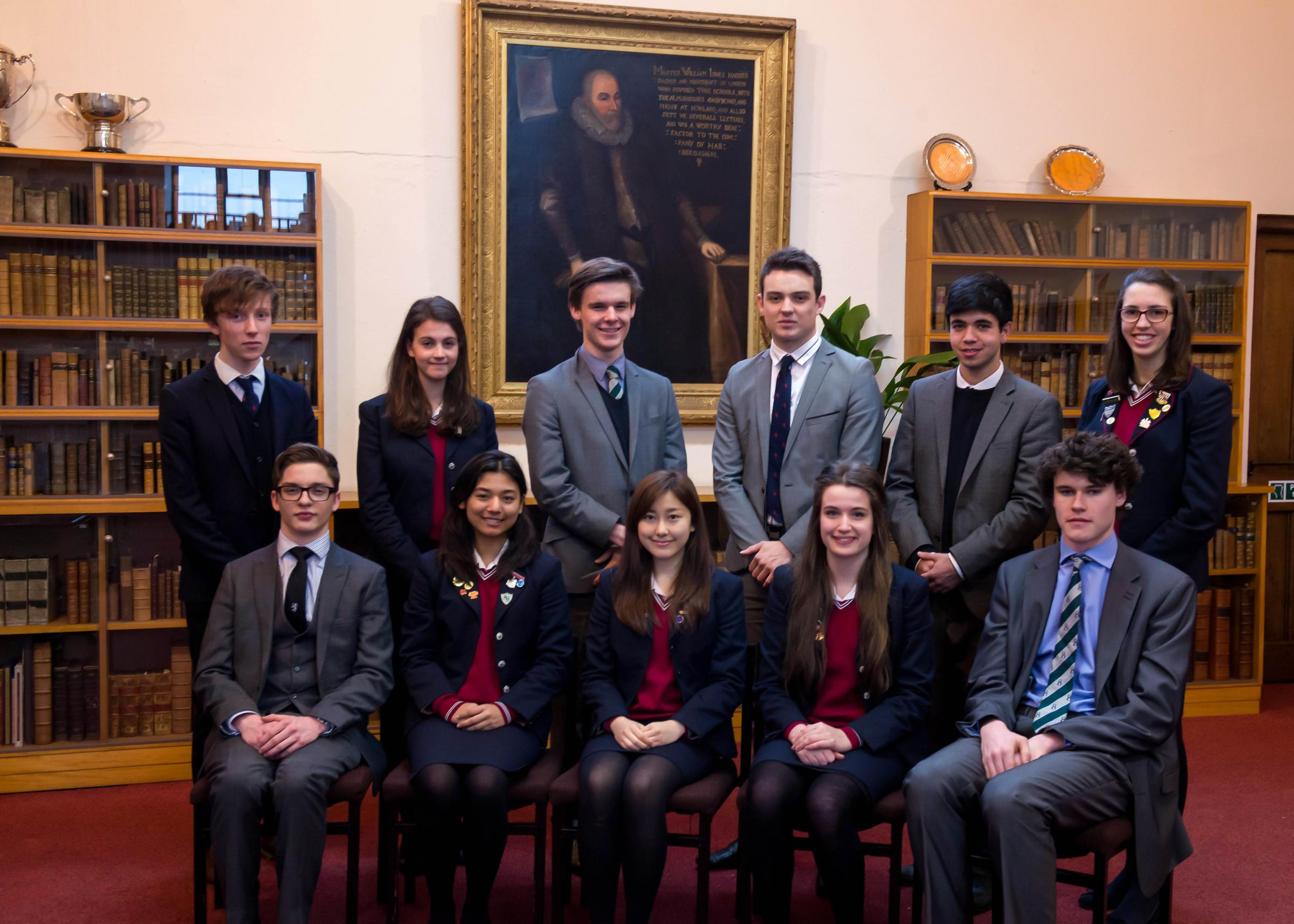 SUCCESSFUL Haberdashers' Monmouth schools Oxford and Cambridge candidates (l to r, back row), Jack Davies, Marianne Hohendorf, Ben Butt, Oliver Hudson, Devan Kuleindiren, Rachel Tilley, (front row) Wesley Nelson, Roshani Badgami, Rachel Lam, Charlotte