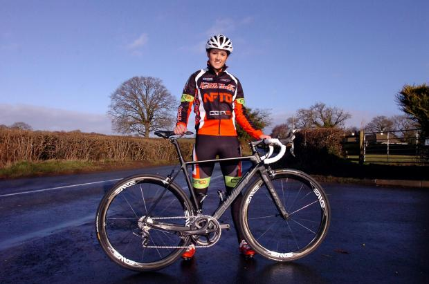 Hereford Times: 1405_13001 National cycling champion Annasley Park. Eardisley. (3774089)