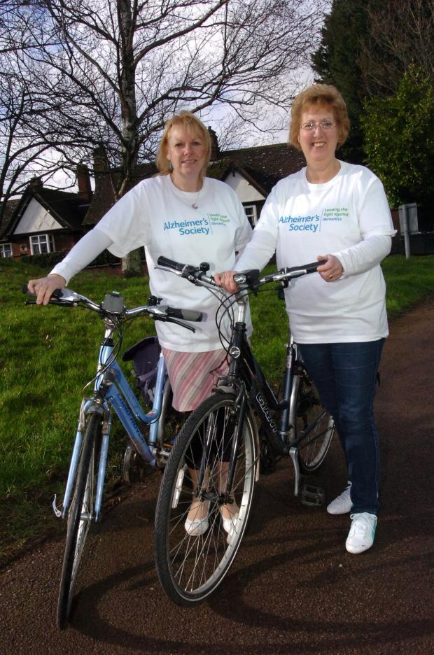 Hereford Times: (l-r) Hazel Philpotts and Angela Jones will be taking part in a London to Par