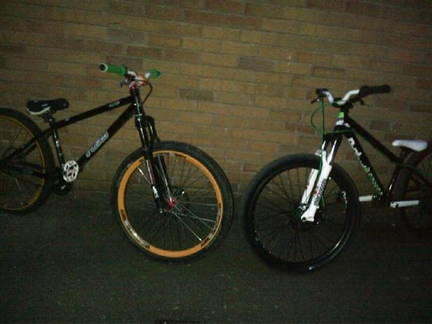 Hereford Times: These bikes were stolen from a garden in Weobley.
