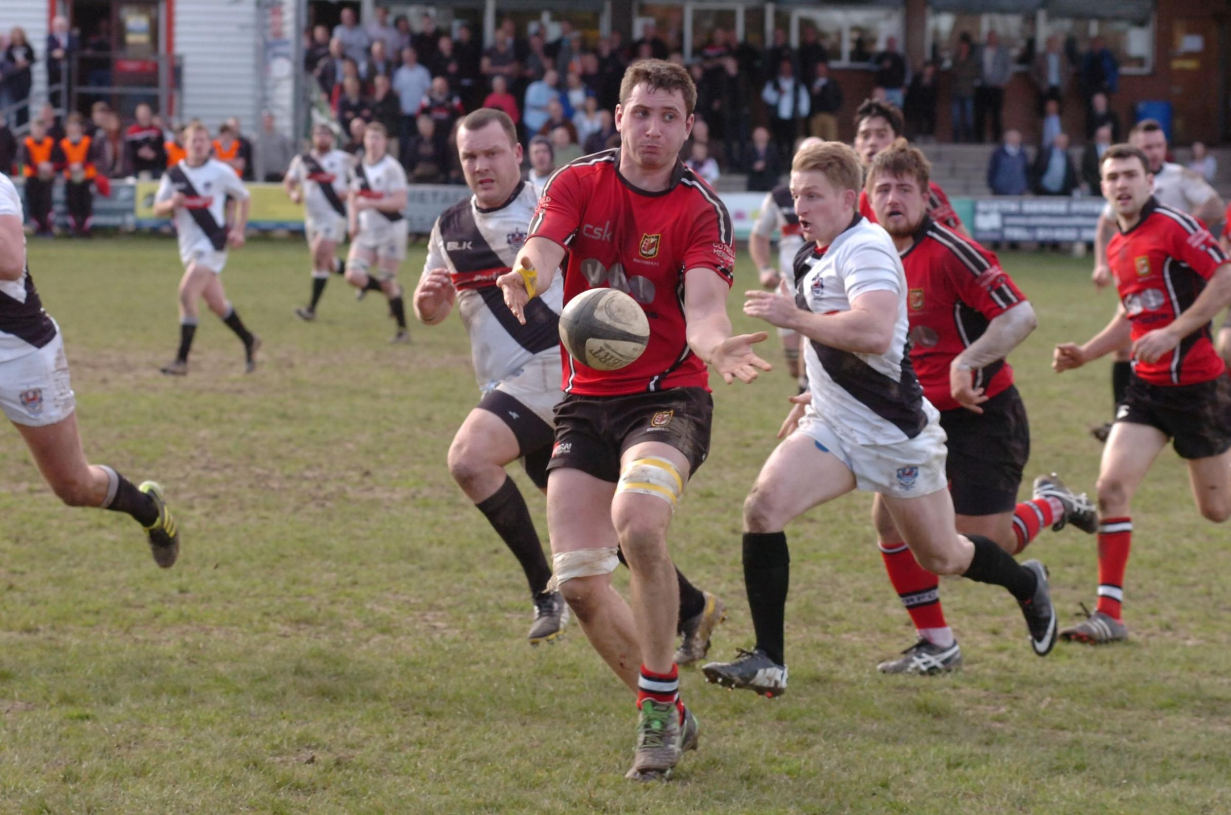 Joy for Hereford Rugby Club's Guy Griffiths