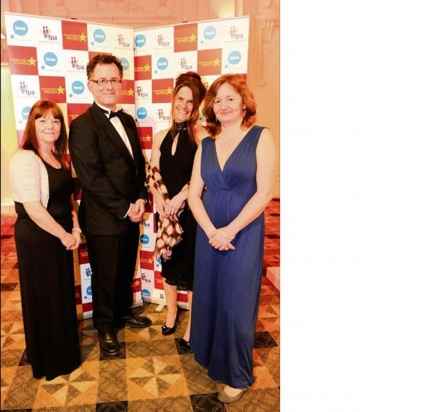 Hereford Times: Celebrate: (l-r) Walsall Healthcare NHS Trust representative Carol Williams, Catcher Media co-director Rick Goldsmith, Walsall Council representative Rachel Parker and Catcher Media co-director Julia Goldsmith.