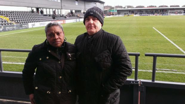 Hereford Times: Tina and Chris Bush, pictured at the Hive last Saturday.