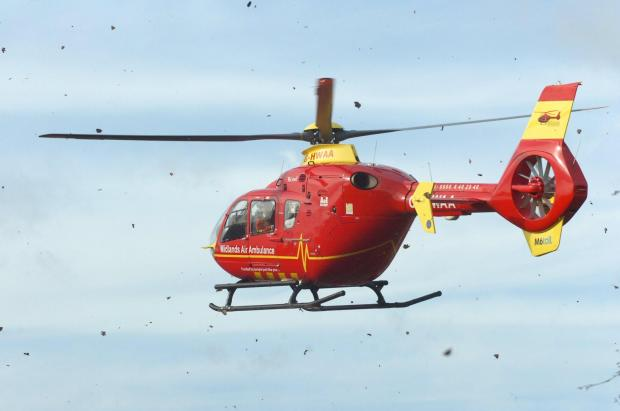 Hereford Times: An air ambulance was called to Hay-on-Wye last night.