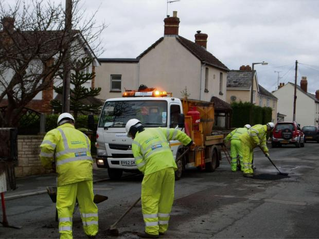 Roads being repaired in Westfields.