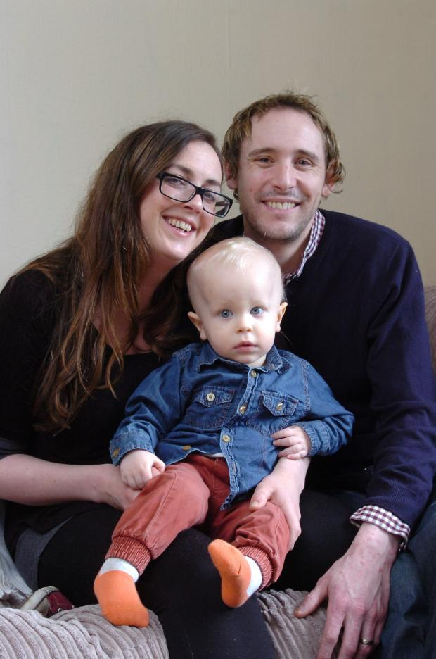 Hereford Times: 1415_7001 Bill Symonds who has had surgery to remove a brain tumour back at home with his parents Kate & Bill. (5253727)