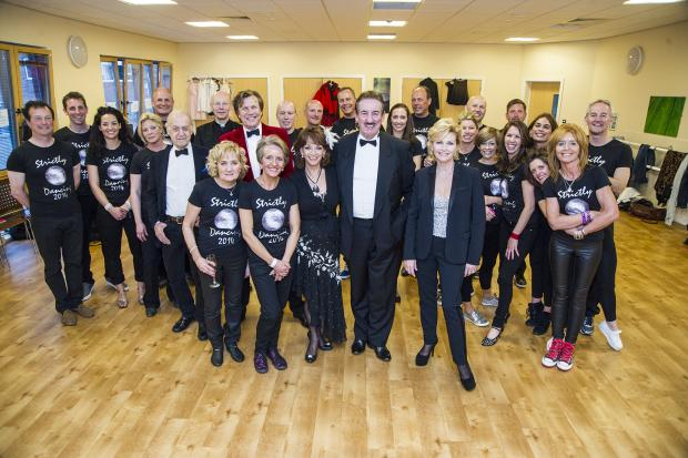 Hereford Times: The Strictly dancers and judges ahead of their performances on Saturday. Photo by Richard Weaver Photography.