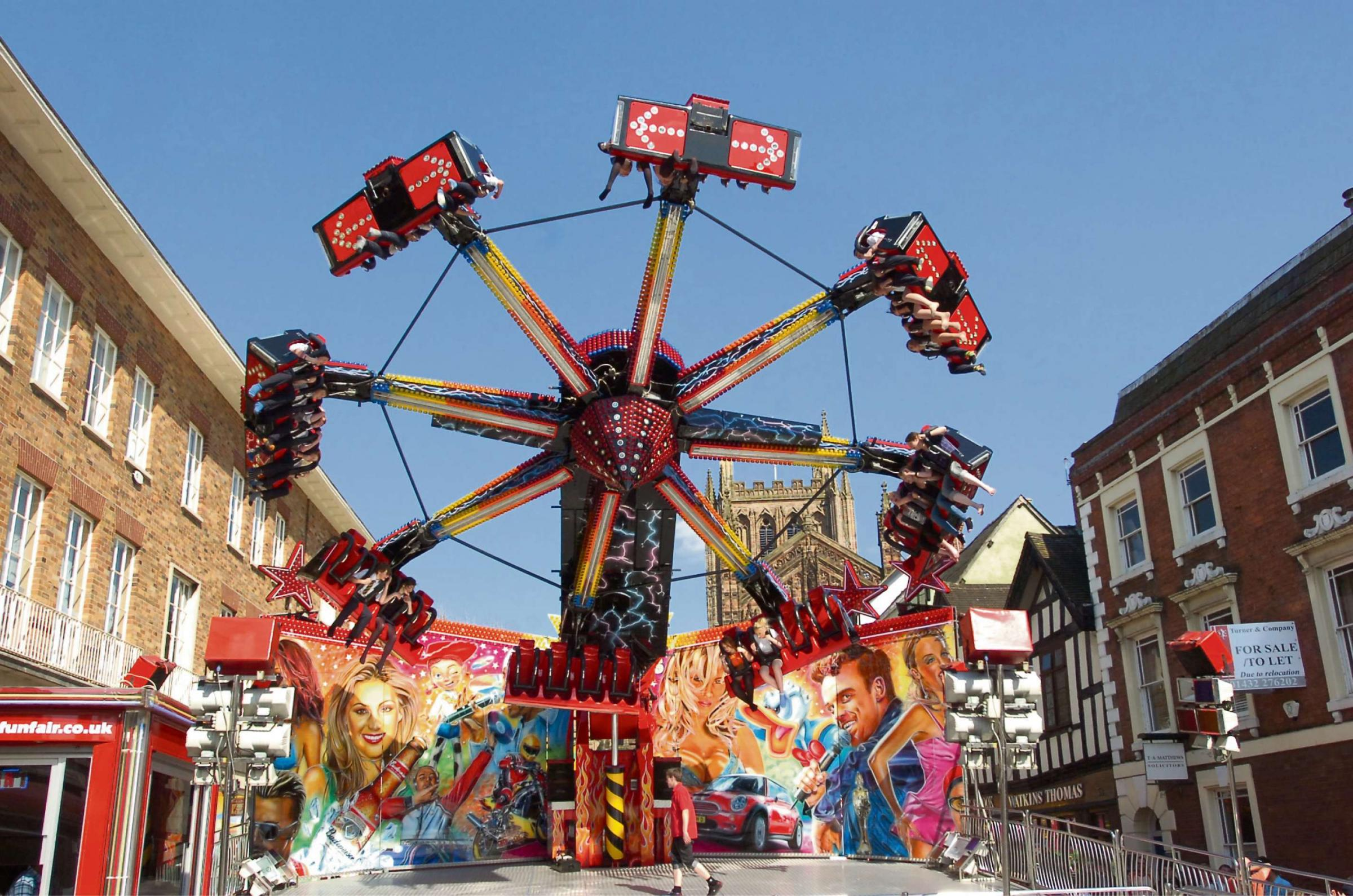 A number of white-knuckle rides will once again be on offer at Hereford's May Fair.