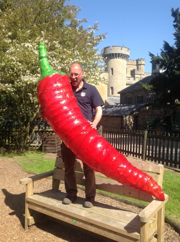 Hereford Times: Nick Robinson, head groundsman at Eastnor Castle, will once again be taking part in a chilli eating com