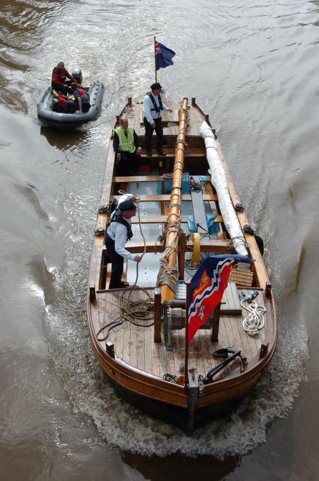 Hereford Times: Jubillee boat launched in Hereford