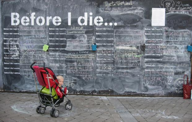 Hereford Times: The St Michael's Hospice 'before I die' chalk boards will be in High Town later this month.
