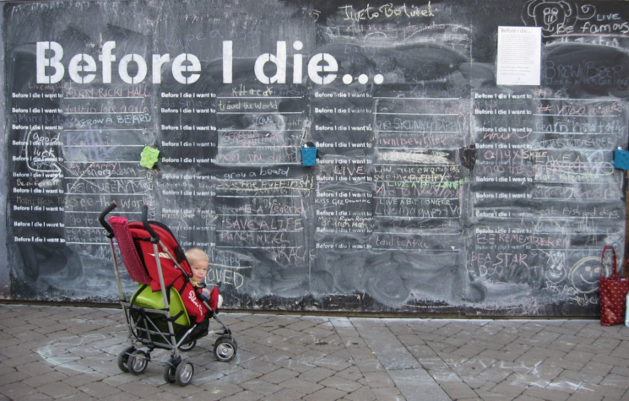 The St Michael's Hospice 'before I die' chalk boards will be in High Town later this month.