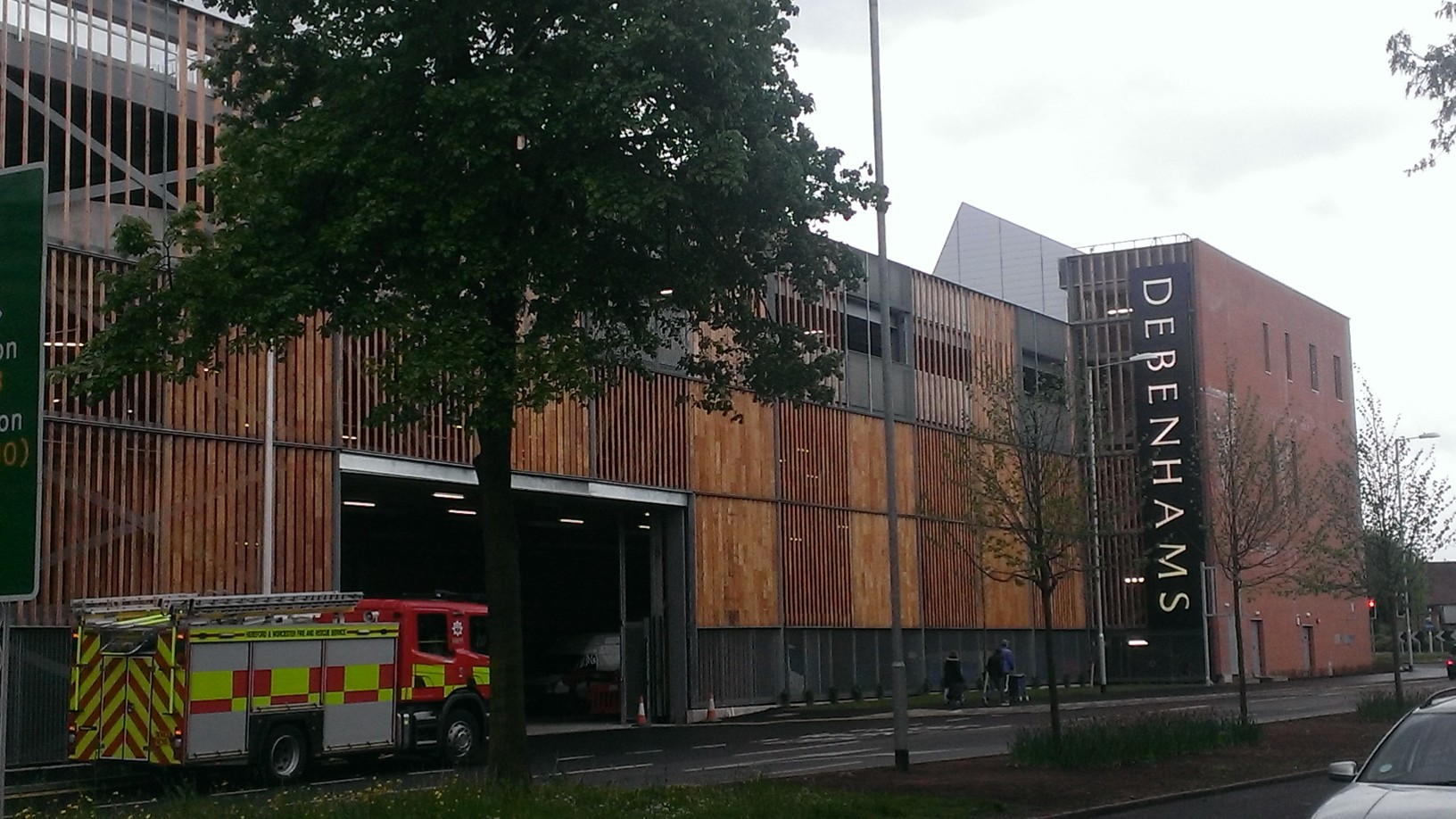 Fire service carry out safety checks at Hereford's Old Market site