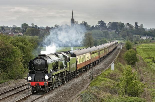 Hereford Times: The engine that will be passing through Hereford on Saturday
