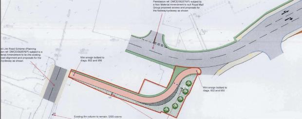 Hereford Times: Plans for a path that will link Hereford station with the city centre.