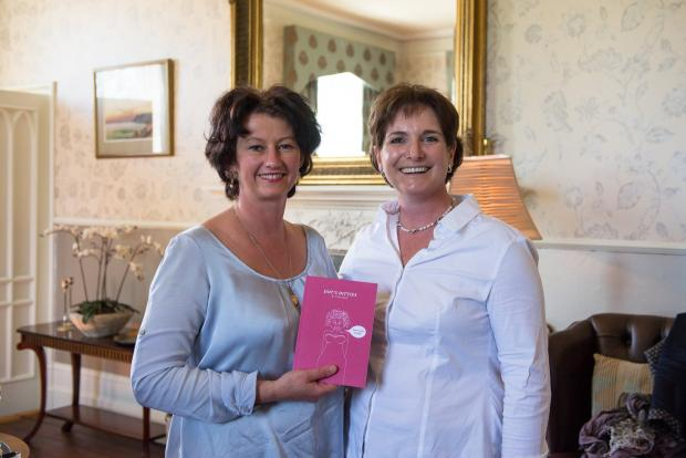 Author Tracey Jacob, right, with Margaret Owen, owner of Lemore Manor. Picture by Susie Mackie.