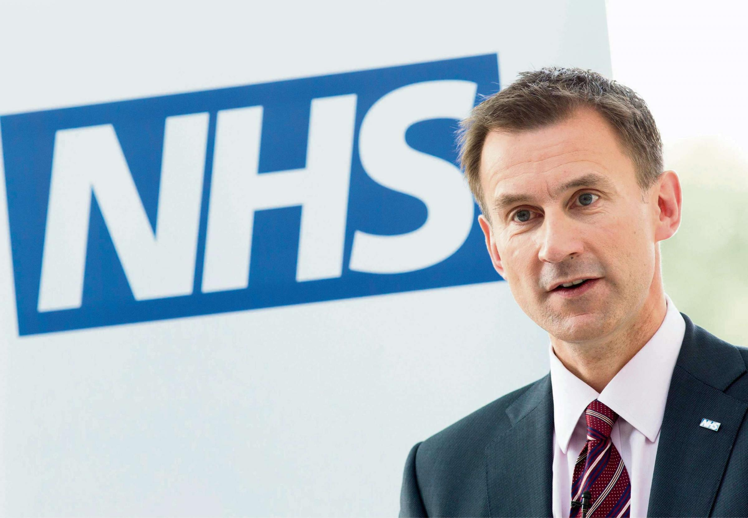 Jeremy Hunt at Hereford County Hospital this morning (Thurs)