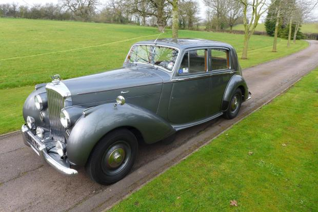 The 1950 Bentley MkVI sold for more than £40,000.